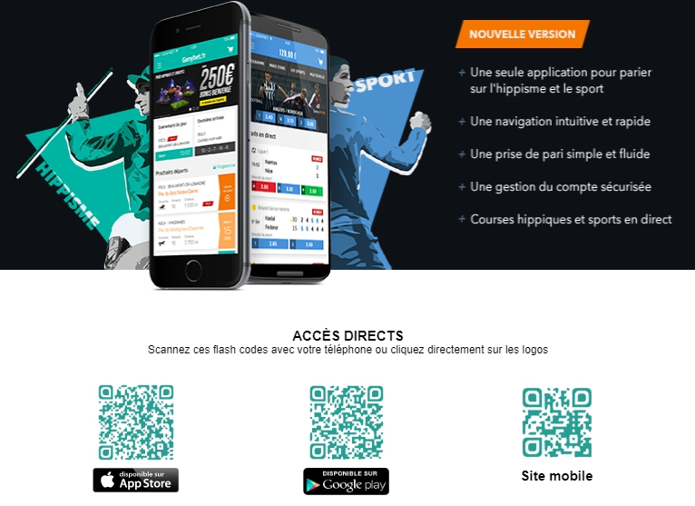 la version pour mobile de Genybet