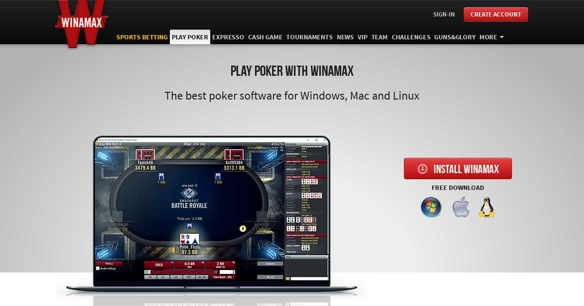 Winamax poker Android