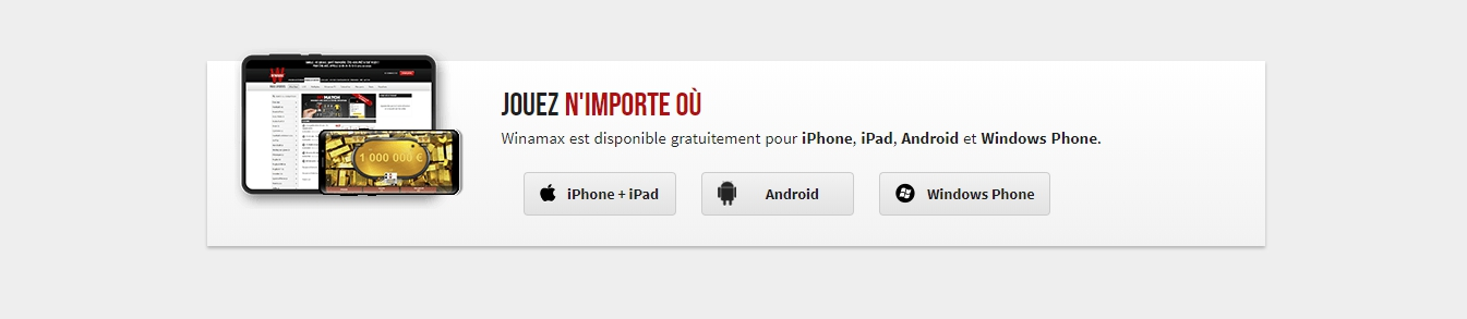 Application mobile Winamax pour Android